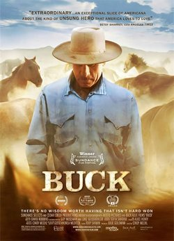 """Promotional graphic for the documentary, """"Buck."""""""