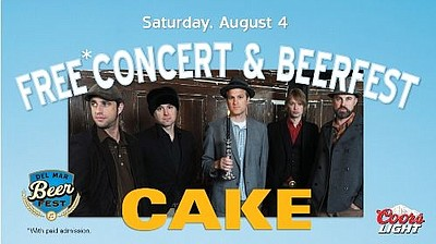 Promotional graphic for the Western Regional Chile Cookoff & Beer Fest PLUS Cake in Concert on August 4th.