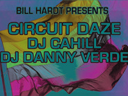 Promotional graphic for the San Diego Pride Parties 2012 Ft. Circuit Daze on July 21st.