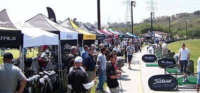 Image of a previous Demo Day hosted by the Carlsbad Golf Center. Courtesy to Carlsbad Golf Center.
