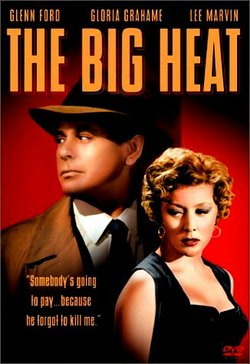 """Promotional graphic for the film, """"The Big Heat"""" (1953), that will be screening at the San Diego Central Library on August 31st."""