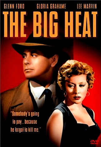 "Promotional graphic for the film, ""The Big Heat"" (1953), that will be screening at the San Diego Central Library on August 31st."
