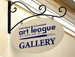 Exterior image of Carlsbad Oceanside Art League (COAL) sign.