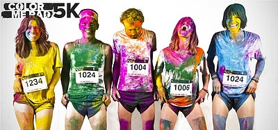 Promotional image of Color Me Rad 5k.