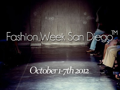 Promotional graphic for the San Diego Fashion Week.