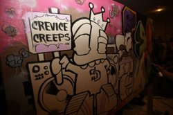 Promotional image of Enosh's Crevice Creeps artwork.
