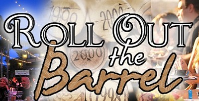 Promotional graphic for the 'Roll Out The Barrel' On July 28th from 6-10pm.