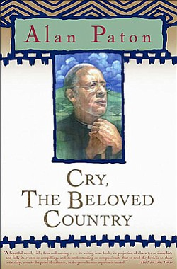 "Book cover of Alan Paton's ""Cry, The Beloved Country""."