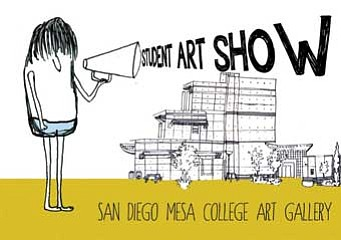 Promotional graphic for the Fall 2012 Student Art Exhibition on display from November 29th through December 12th, 2012. Courtesy of San Diego Mesa College: Art Gallery.
