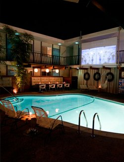 Image of the Dive-In Movie Experience at the Pearl Hotel. Courtesy of the Pearl Hotel.