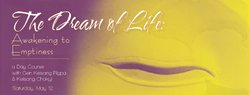 Promotional graphic for Dream of Life: Awakening to Emptiness with Gen Kelsang Rigpa & Kelsang Chokyi