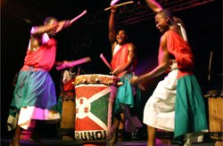 Promotional image of Royal Drummers And Dancers Of Burundi. Photo courtesy of Columbia Artists Management Inc.