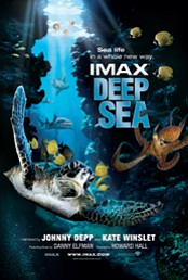 Promotional graphic for the IMAX Deep Sea Film returning to the Reuben H. Fleet Science Center on July 1st.