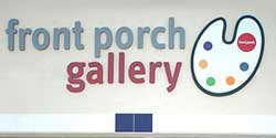 Graphic logo for Front Porch Gallery.