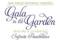 Graphical logo for San Diego Botanic Garden's Gala in the Garden.
