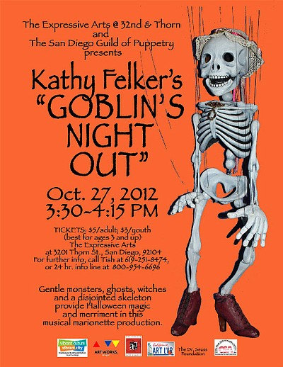 Promotional flyer for Goblins Night Out.