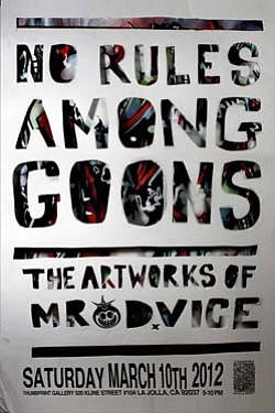 "Promotional graphic for ""No Rules Among Goons: New Works ..."