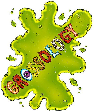 "Logo for the ""Grossology"" Exhibition, at the Reuben H. Fl..."