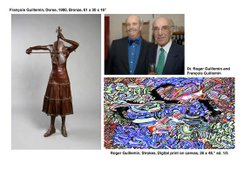 Promotional image of Joseph Clayes III Gallery Exhibition Roger Guillemin and le Corbeau: Father and Son