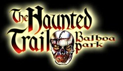 Promotional graphic for The Haunted Trail Of Balboa Park