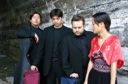 Photograph of the  Hausmann Quartet who will be performing at the Fall Concert Series on August 26th, 2012.