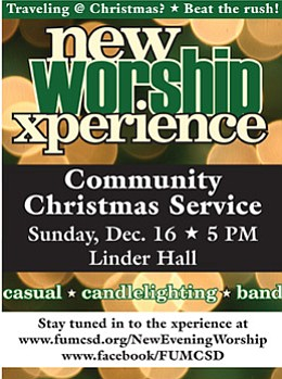 Promotional graphic for the Community Candlelight Xperien...