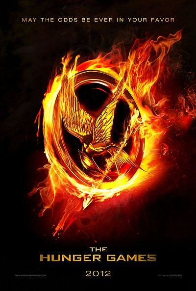 """Promotional graphic for the film, """"The Hunger Games"""" whic..."""