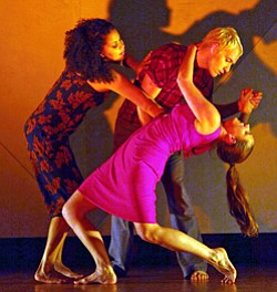 Photo by Manny Rotenberg. Image of dancers from the Jean Issacs' San Diego Dance Theater company.