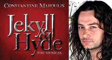 "Promotional graphic for ""Jekyll & Hyde"" starring Constantine Maroulis at the San Diego Civic Theatre"