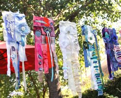 Image of Prayer Flags that will be on display at the Oceanside Museum of Art. Courtesy of the Oceanside Museum of Art.