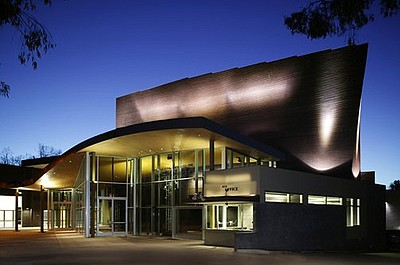 Exterior photo of the La Jolla Playhouse, located at 2910 La Jolla Village Drive, La Jolla, CA 92037.