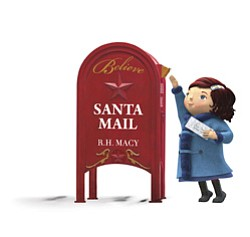 "Promotional logo for Macy's ""Believe"" in benefit of Make-A-Wish Foundation. Macy's donates $1 for each letter mailed in store."