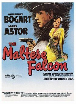 "Promotional graphic for the film, ""The Maltese Falcon"""