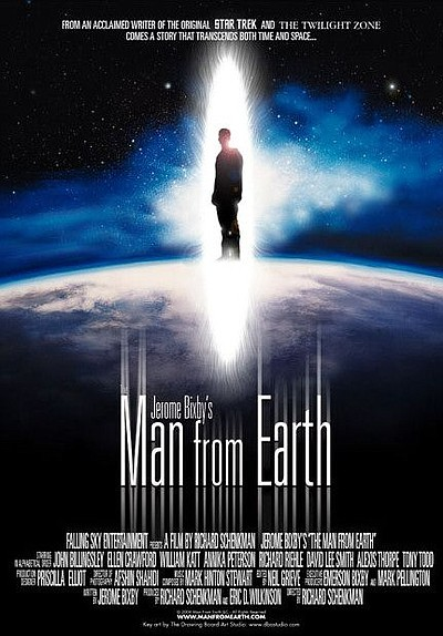 "Promotional graphic for the film, ""The Man from Earth."""