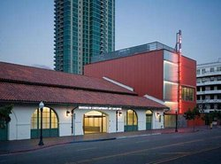 Exterior photo of Museum of Contemporary Art San Diego: Downtown, located at 1100 & 1001 Kettner Boulevard, (between Broadway and B Street), San Diego, CA 92101. Courtesy of MCASD