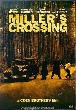 "Promotional graphic for the film, ""Miller's Crossing (1990)"" that will be screening at the San Diego Central Library on September 14th."