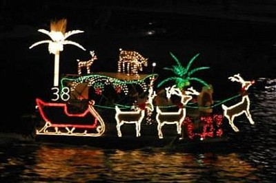 Image of a boat participating in Mission Bay Christmas Bo...