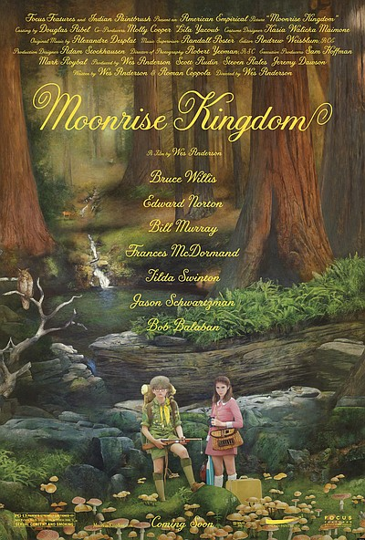 "Promotional graphic for the film, ""Moonrise Kingdom"""