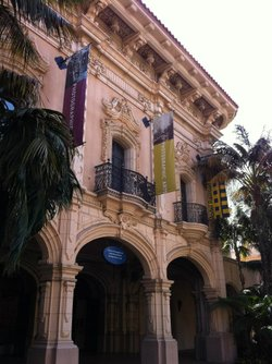 Exterior image of the Museum of Photographic Arts located in Balboa Park