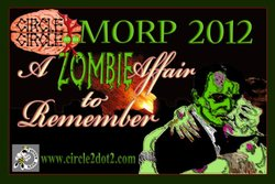 Promotional graphic for the MORP 2012: 'A Zombie Affair To Remember' on October 13th, 2012. Courtesy of Circle Circle Dot Dot.