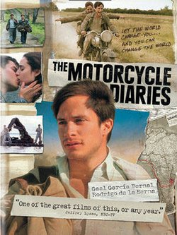 "Promotional graphic for the film ""The Motorcycle Diaries."" Courtesy of Focus Features"