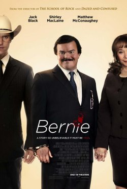 """Promotional graphic for the film, """"Bernie."""""""