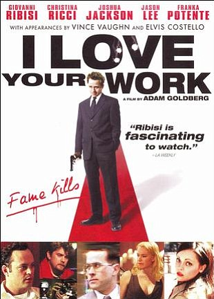"Promotional graphic for the film, ""I Love Your Work"" screening at the Central Public Library on September 9th, 2012."