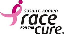 Promotional graphic for the Susan G. Komen Race For The Cure.