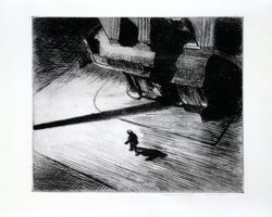 "Promotional image of ""Night Shadow"" from the exhibit, ""Character and Crisis: Printmaking in America, 1920-1950,"" on display September 14 – December 14, 2012. Courtesy of USD Robert & Karen Hoehn Family Galleries"