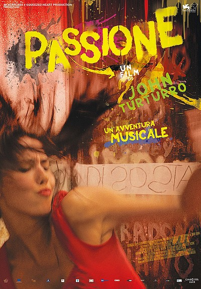 "Movie poster for the film, ""Passione"""