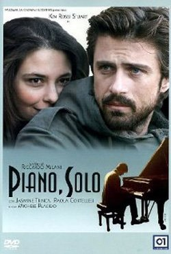 "Promotional movie poster for ""Piano, Solo"" playing at the San Diego Italian Film Festival on November 5th at 7pm."
