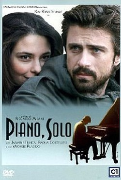 "Promotional movie poster for ""Piano, Solo"" playing at the..."