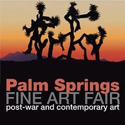 "Promotional graphic for the Palm Springs Fine Art Fair ""post-war and contemporary art."