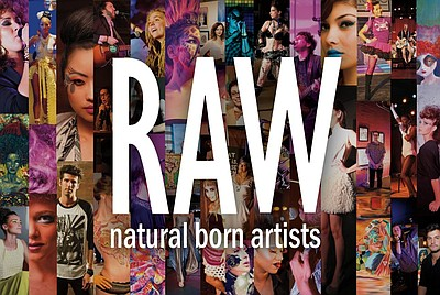 Graphic logo for RAW natural born artists